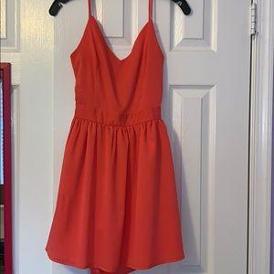 Coral Tobi Skater Dress